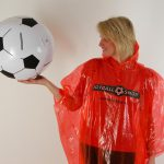 #rainponcho football