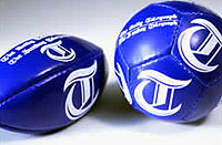 Daily Telegraph football and rugby ball